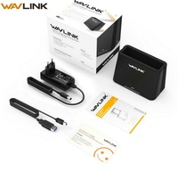 Wavlink 2.5/3.5 hdd Enclosure USB3.0 to SATA External Hard Drive Single Bay Docking Station for 2.5/3.5 inch SSD for UASP & 6TB