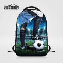 Dispalang мужчин ноутбук сумки для путешествий настроить футбольных колледж рюкзак мужской моды школьная сумка Мальчики ежедневно Daypacks