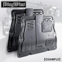 BEINGWINS Car styling For Honda Civic Plastic engine guard 2007 For Civic Engine skid plate fender alloy steel engine