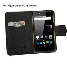 5 цветов супер! Чехол для телефона Highscreen Pure power, кожаный чехол с Откидывающейся Крышкой, высокое качество, модные роскошные аксессуары для телефонов