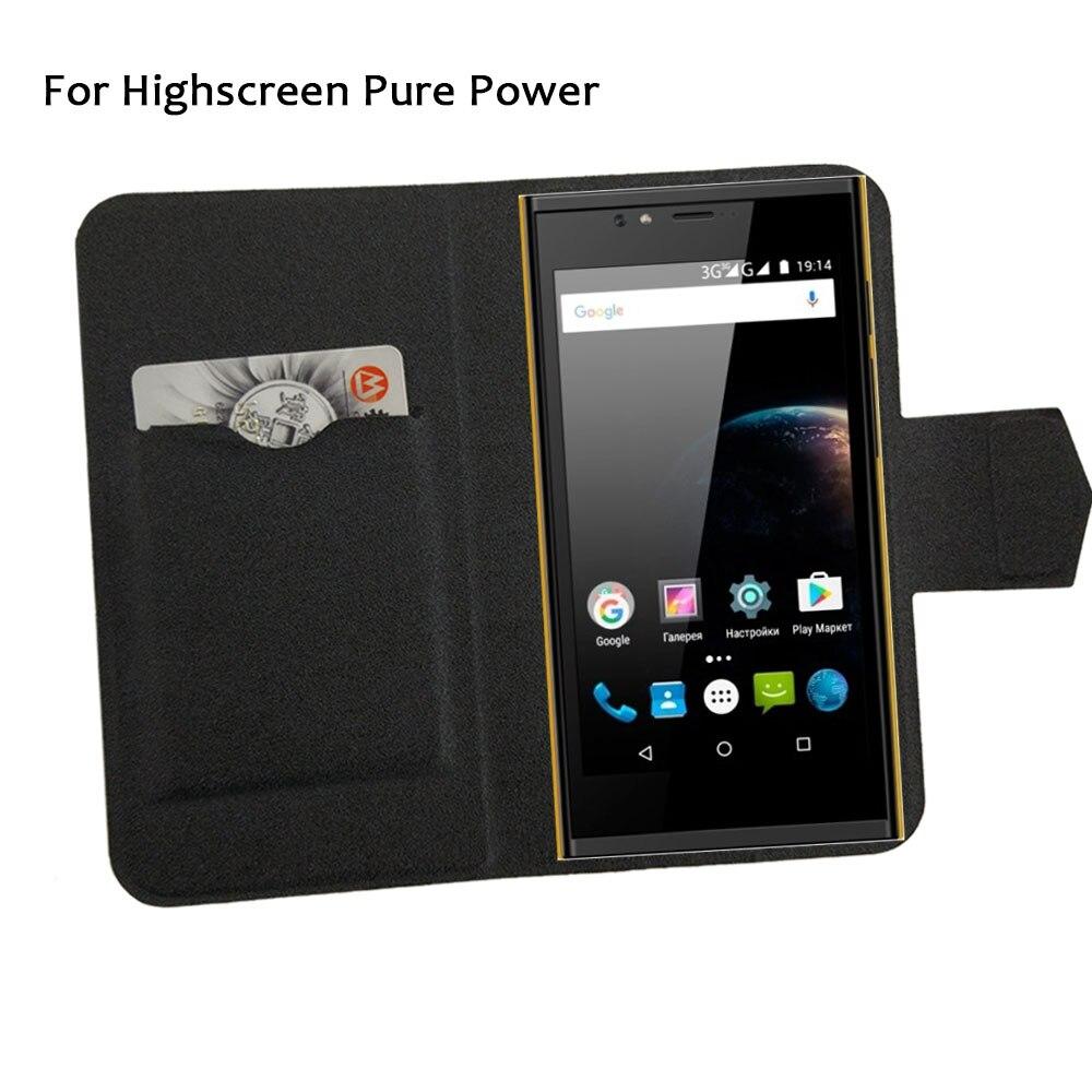 5 Colores Super! highscreen teléfono pure power case cubierta del tirón del telé