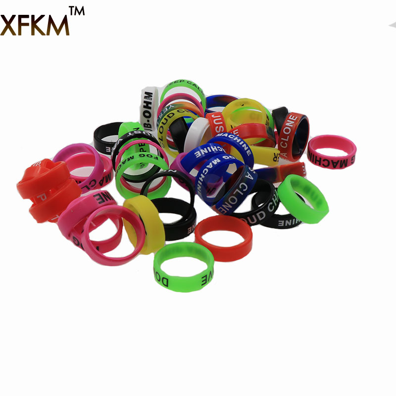 XFKM Newest Non-Skid MOD Silicone Ring Electronic Cigarette Silicon Vape Ring For Mechanical Mods E Cig Silicone Rings