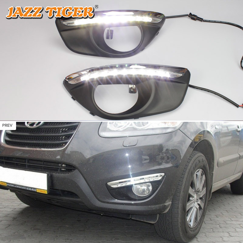 JAZZ TIGER Car LED DRL Waterproof ABS Auto Dimming