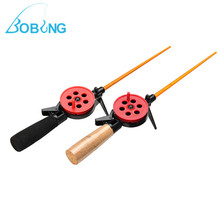 Bobing Portable HFB-8/8X  Winter Ice Fishing Rod Unitary Small Sea Rod Spinning Fishing Tackle Baitcasting Lure Pesca Pole