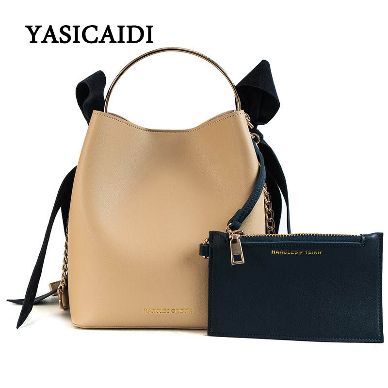 YASICAIDI Women Handbag Fashion Women Bucket Crossbody Female Bags Chain Mental Handle Ladies bag Casual Tote Bag For Women 2018YASICAIDI Women Handbag Fashion Women Bucket Crossbody Female Bags Chain Mental Handle Ladies bag Casual Tote Bag For Women 2018