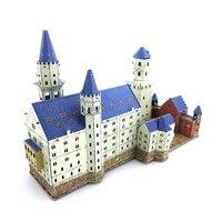 Color Famous Construction Beautiful Castle 3D DIY Metal Model Puzzle Manual Jigsaw Adult Children Educational Birthday