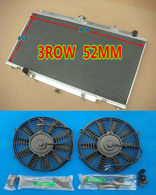 US $240 0 |NEW Aluminum Radiator + Fans FOR 1997 2001 NISSAN GU PATROL Y61  Diesel 6Cyl TD42 RD28 ZD30CR 2 8/3 0/4 2L Turbo AT/MT 99 98 00-in Radiators