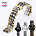 AUTO Real Ceramic Butterfly Buckle Watch Band for Rado Centrix Series R30927722 R30034712 R30941702 Man Lady Watch Bracelet+Tool