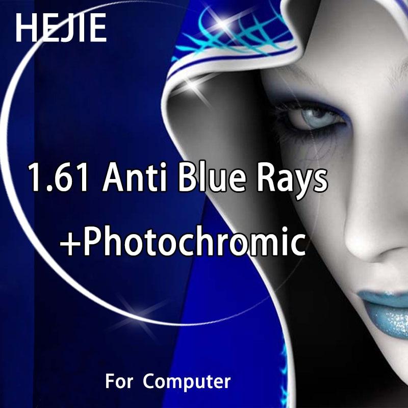 1.61 Index Anti Blue Rays Photochromic Optical Lenses For Myopia Sunglases Single Vison Lens Coating Photo Gray