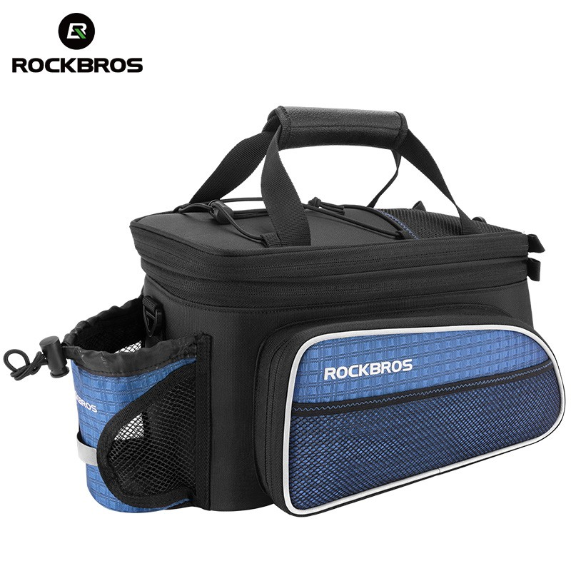 ROCKBROS Bike for Bicycle Rear Package Trunk Pannier Bicycle Bag Luggage Carrier Bike Part Rainproof Reflective Rear Saddle Bags outdoor rainproof multifunction bike luggage carrying bag black grey 67l