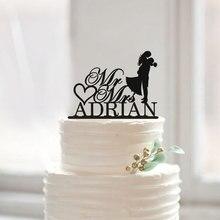 Moderne Hochzeitstorte Topper mit Nachname, Braut und Bräutigam Silhouette Kuchen Topper, Mr und Mrs Kuchendeckel