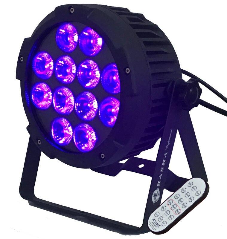 Rasha Nouvelle Arrivée Rodie Sans Fil 12*18 W 6in1 RGBAW UV Alunimum coulée de Faible Bruit LED Par Lumière Par Projectory Avec IRC à distance