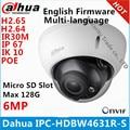 Dahua IPC-HDBW4631R-S 6MP IP-камера IK10 IP67 IR30M Встроенная POE SD слот камера видеонаблюдения