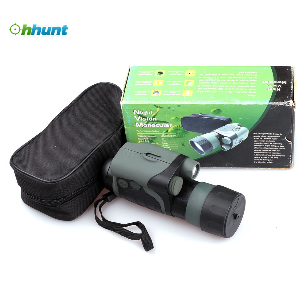 Tactical MT-3 4X50 Infrared Night Vision Monocular Scope For Night Hunting original yukon 24127 night vision scope nvmt spartan 4x50 night vision monocular for hunting night vision device 4 magnification