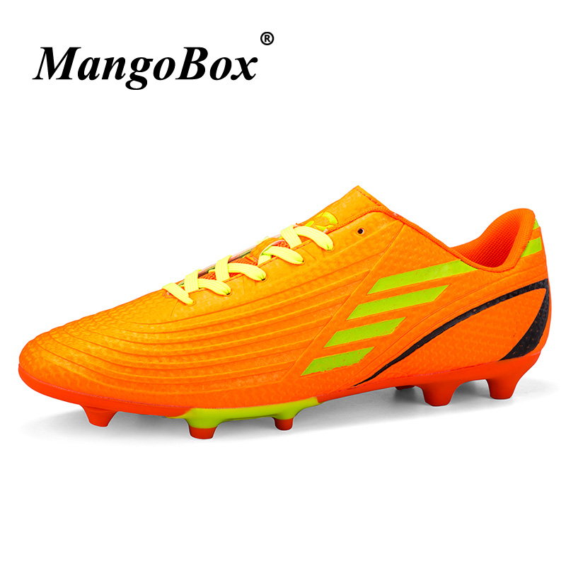 Kids Football Shoes Mens Brand Designer Sports Shoes Football Blue Orange Youth Soccer Cleats Boys Cheap Athletics Spikes Shoes