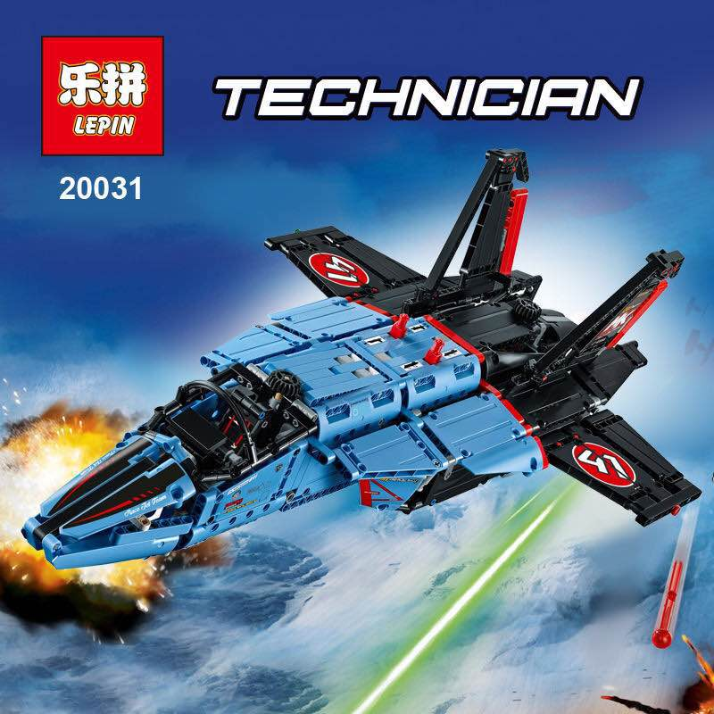 LEPIN 20031 1151pcs NEW Technic Series The jet racing aircraft Model Building Kits Brick Toy Compatible 42066 puzzele for kids new lepin 16009 1151pcs queen anne s revenge pirates of the caribbean building blocks set compatible legoed with 4195 children