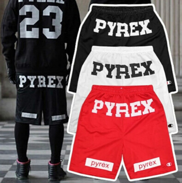 Pyrex Shorts Hip Hop Women & Men Pyrex Shorts Best Vision Hip Hop Pyrex Shorts Red Black White Color M , L, XL XXL