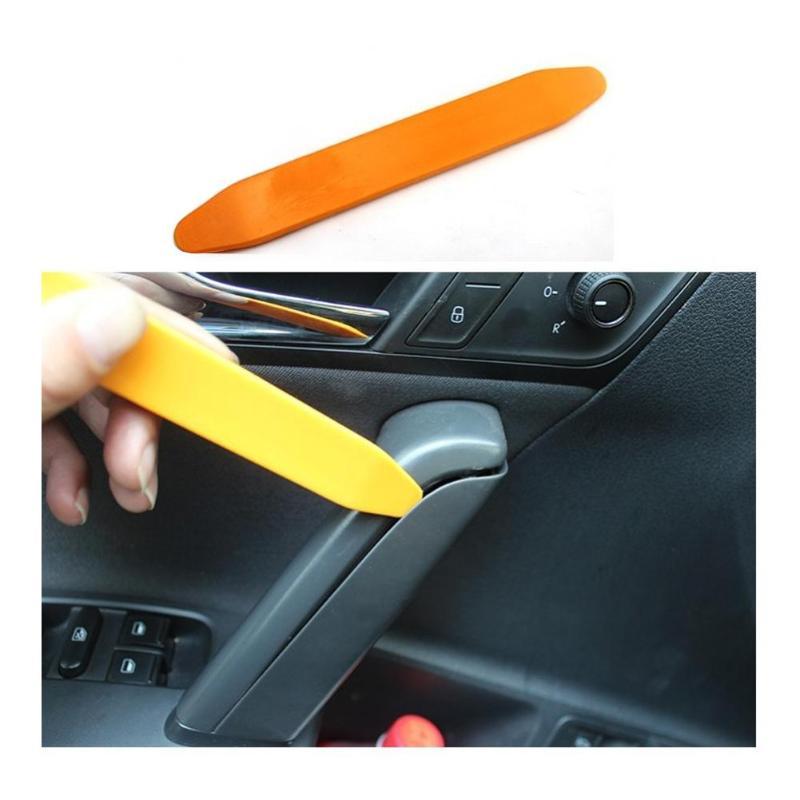 4Pcs DIY Desmontagem Carro de Áudio Kit De Remoção de Plástico Interior Painel de Guarnição Dashboard DVD Player Do Carro Auto Ferramenta de Remoção Da Guarnição