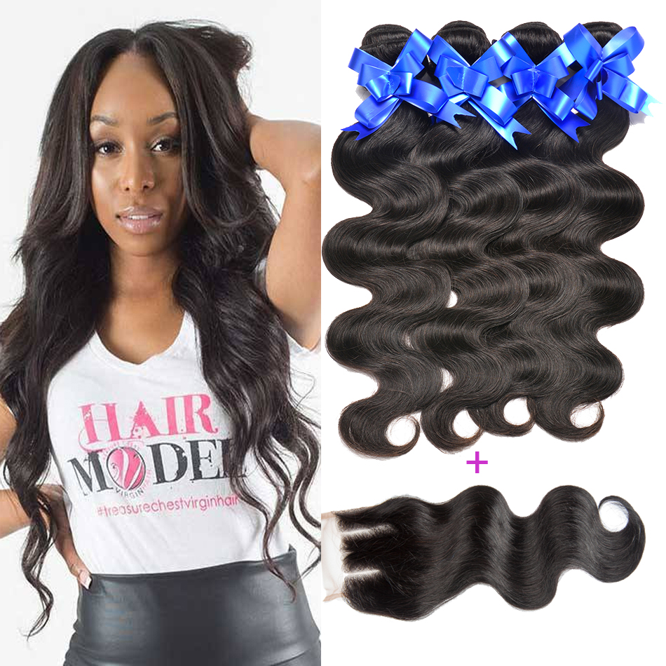 font b Stema b font font b Hair b font Brazilian Body Wave With Closure
