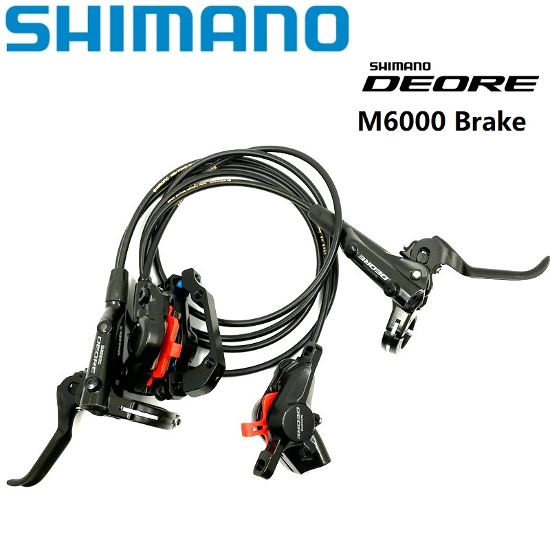 SHIMANO DEORE BL/BR M6000 Hydraulic Disc Brake MTB Mountain Bike Brake Lever & Caliper With Resin Pads Bicycle BrakesSHIMANO DEORE BL/BR M6000 Hydraulic Disc Brake MTB Mountain Bike Brake Lever & Caliper With Resin Pads Bicycle Brakes