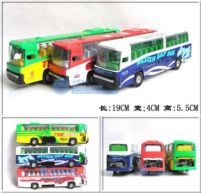 19cm alloy bus WARRIOR three door bus toy car