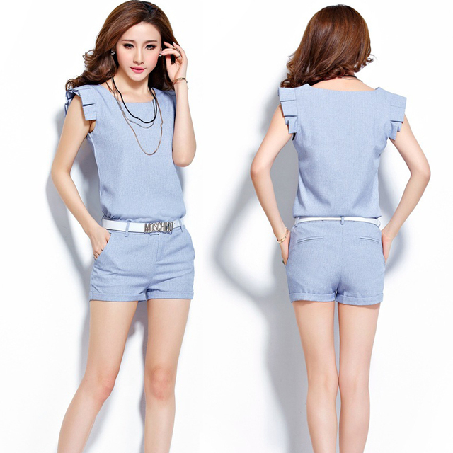 2 Pieces Set Women Solid Color Shorts And Tops Set Summer Style Ladies  Sleeveless Shirt Short Suits Casual Top Pant Women s Set 6d252ec07