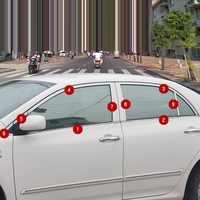 กระจังหน้ารถยนต์ตกแต่งรถดัดแปลงรถจัดแต่งทรงผมอุปกรณ์เสริม 07 08 09 10 11 12 13 14 15 16 18 19 สำหรับ Toyota Corolla