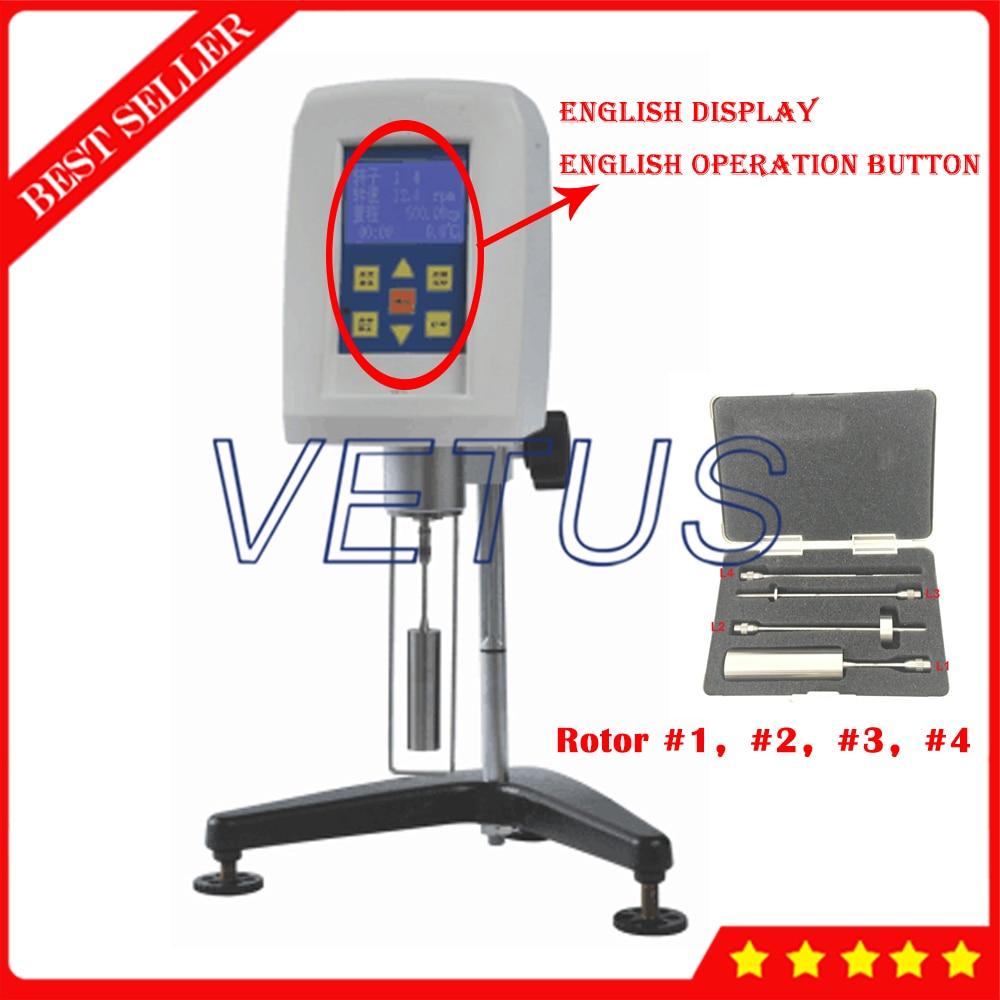 NDJ 5S Digital Rotary Viscosity Meter For oil paint plastic food Testing Meter Rotational Viscometer With Printer Interface