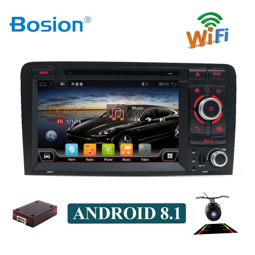 Lecteur DVD stéréo 7 ''HD Android 8.1 Octa Core autoradio lecteur GPS pour Audi A3 8 P 2003-2011 2 din lecteur dvd multimédia de voiture GPS