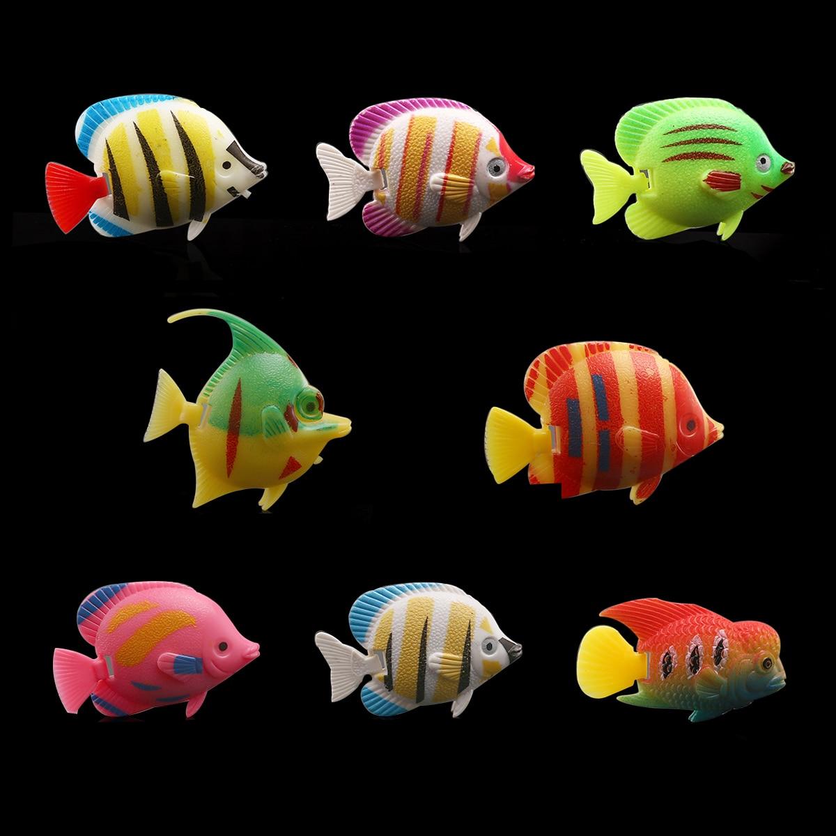 Artificial aquarium fish tank - 10pcs Lifelike Plastic Artificial Moving Floating Fishes Ornament Decorations For Aquarium Fish Tank Random Color