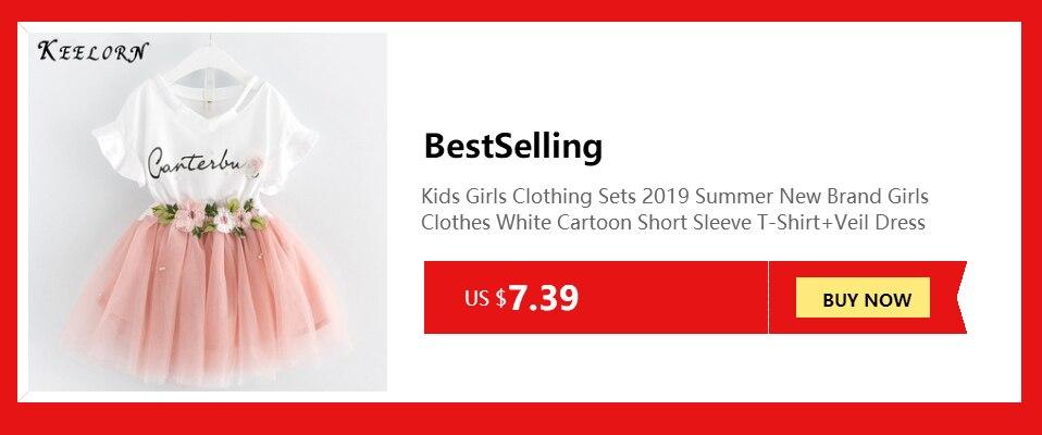 856a8d4819a9b Keelorn الطفل الفتيات اللباس 2019 عارضة منقوشة أكمام بدوره إلى أسفل طوق  الأميرة اللباس منقوشة السراويل 2 قطعة الاطفال مجموعة ملابس