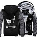 Новые горячие продажи толстовки мужчины Breaking Bad Гейзенберг куртка смешно повседневная с длинным рукавом футболка 2017 зимняя мода руно костюм