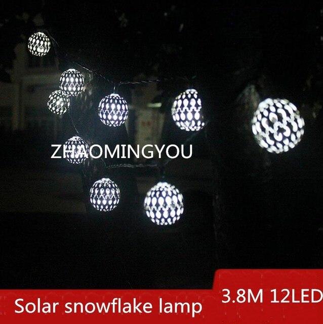38m 12led solar snowflake lamp led outdoor lighting outdoor 38m 12led solar snowflake lamp led outdoor lighting outdoor garden lamp waterproof mozeypictures Choice Image