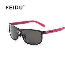 Feidu polarizadas cuadrados gafas de sol de los hombres gafas de marco de aleación de alta calidad gafas de sol De Los Hombres Gafas Gafas de Sol Al Aire Libre Con caja