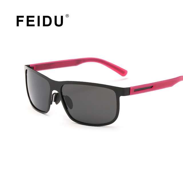 FEIDU High Quality Polarized Square Sunglasses Men Eyewear Alloy Frame Sun glasses For Men Outdoors Gafas Oculos De Sol With Box
