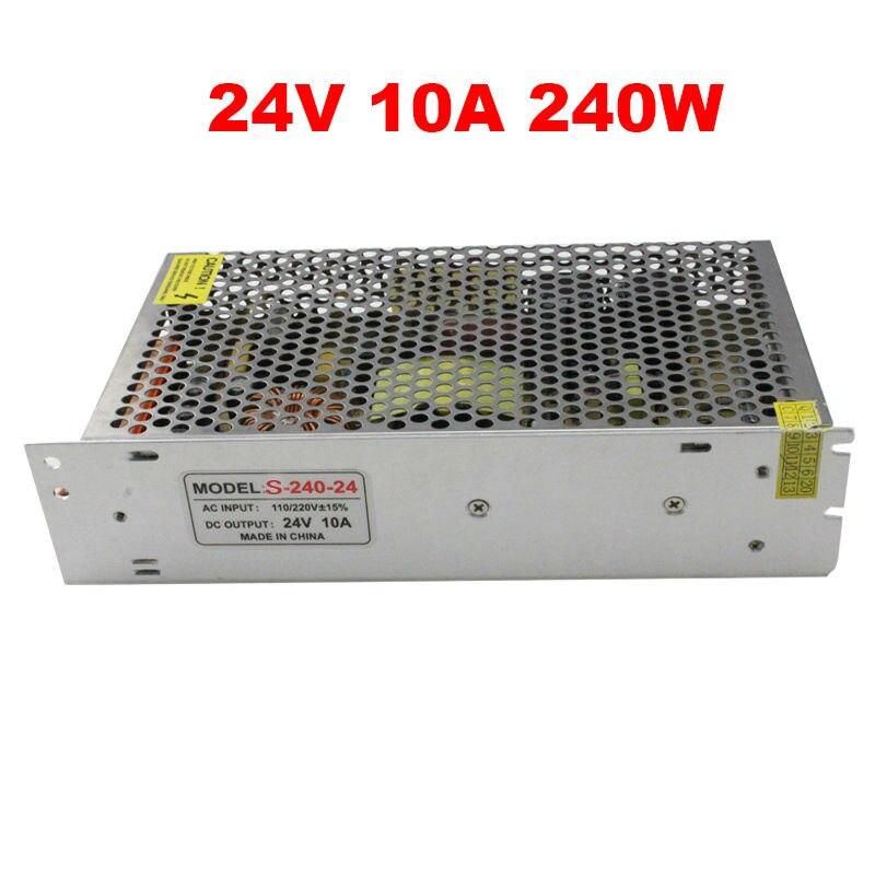 Switching mode 24v 240w led power supply 24v 10a 240w led driver 24,Aluminum AC 110V 220V to 24V light transformer for led strip