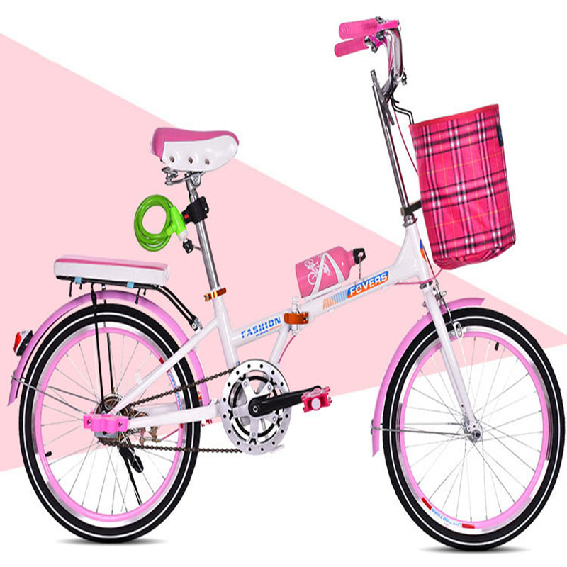 Folding Bicycle 20-inch Variable Speed Highway Students Lightweight Quick Folding For Men And Women