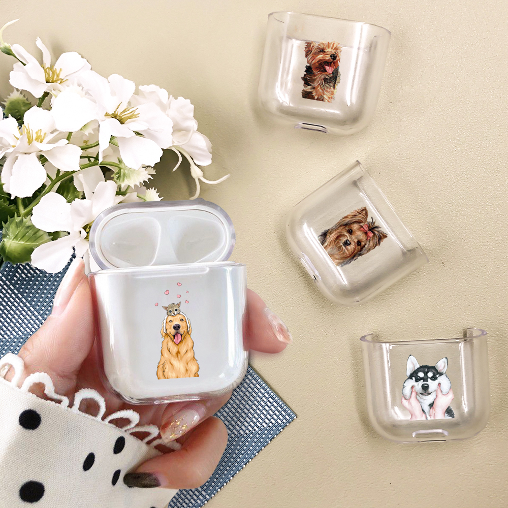 Case for airpods Cute Earphone Case For AirPods Cover Cartoon Animal Dog airpods Accessories for Airpods Soft Silicone Case