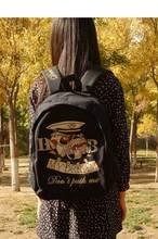 Милые Женщины Моды Холст Рюкзак Kawaii Животных Кошка Собака Печать Рюкзак Повседневная Девочек-Подростков Школьного Backbag Mochila Feminina