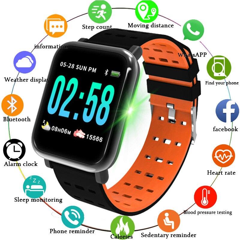 RollsTimi Women Smartwatch Real-Time Heart Rate Monitor Blood Pressure Waterproof Sport Smart Watch Men Smart Fitness Tracker