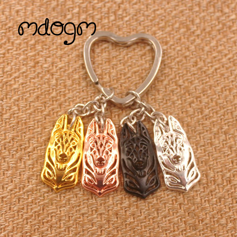 2019 Belgian Malinois Dog Animal Gold Silver Plated Metal Pendant Keychain For Bag Car Women Men Key Ring Love Jewelry K149