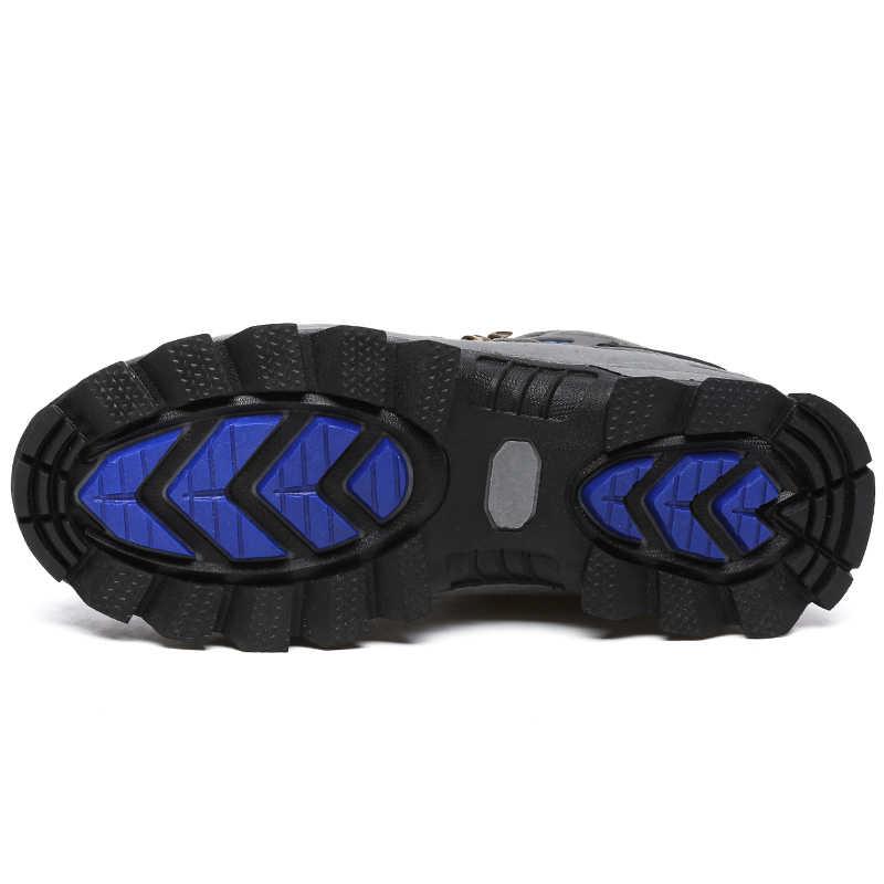 VANCAT Большие размеры новый Мужские ботинки для Мужские зимние сапоги Обувь на теплом меху и плюшевые с высоким берцем на шнуровке модная мужская обувь кроссовки сапоги