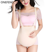 ONEFENG Silicone Belly Fake Pregnant Belly Cloth Bag Style for Man Woman Actor Lifelike 1000 1500g/pc