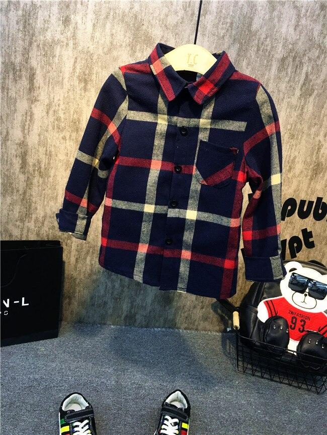 Clever Einzelhandel 2018 Neue Stil Baby Kleidung Plaid Shirts Baby Jungen Gentleman Baby Blusen Mode Shirts Jungen NüTzlich FüR äTherisches Medulla