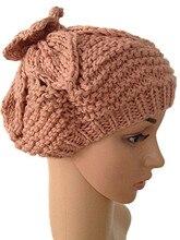 Осень зима темно-синий звезда цветок шляпу 100% ручной вязки шляпы женщин теплая шерстяная шапочка