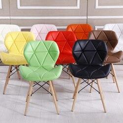 Colore brillante Ergonomico di Legno Per Il Tempo Libero Sedia Da Pranzo Arte Sedia Da Ufficio Del Partito Ristorante bureaustoel ergonomisch cadeira Semplice