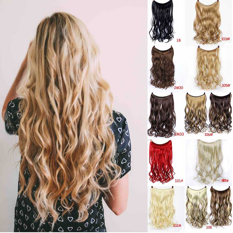 MUMUPI Women Secret Adjustable Wire Human Hair Extensions No Clips Can Dyed Washed Curled Straightened Easy Take on/off   Headwear