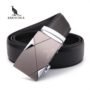 New Designer Men's Belts Luxury Man Fashion Genuine Leather Cowskin Belt for Men High Quality Automatic Buckle Male Waist Strap(China)