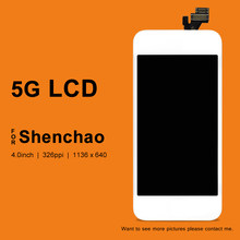 No Dead Pixel For iPhone 5 Screen For ShenChao Quality LCD With Touch Screen With Camera Holder For iphone 5 LCD(China)