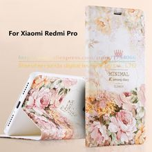 For Xiaomi Redmi Pro Cases Top Quality 3D Colored Painted Flip Stand Bracket Luxury Phone Bags